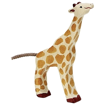 Слика на Мала жирафа што јаде