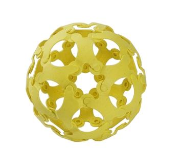 Слика на Binabo - сет за креативно играње - 36 парчиња - жолт