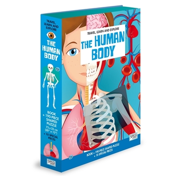Слика на The Human Body - Book and Shaped Puzzle (Travel, Learn and Explore)