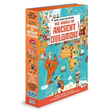Слика на The World of Ancient Civilisations - Book and Shaped Puzzle (Travel, Learn and Explore)