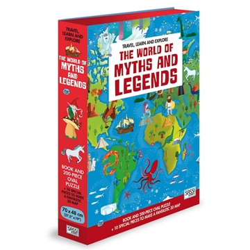 Слика на The World of Myths and Legends - Book and Shaped Puzzle (Travel, Learn and Explore)