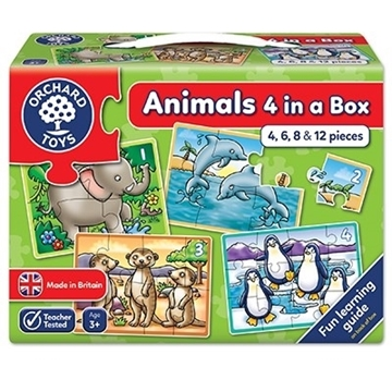 Слика на Animals - Four in a Box Jigsaw