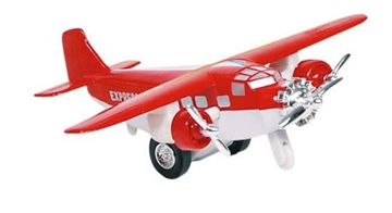 Слика на Airplane, die-cast, L= 14 cm (Red)