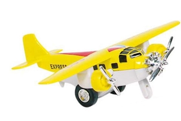 Слика на Airplane, die-cast, L= 14 cm (Yellow)