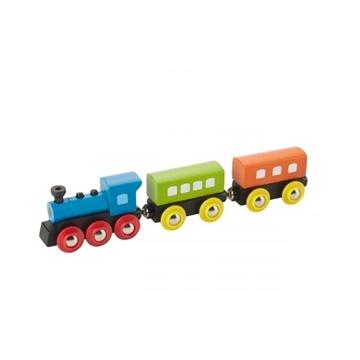 Слика на Воз од дрво со парна локомотива