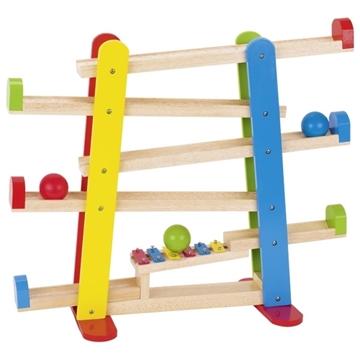 Слика на Дрвена рампа со топки и ксилофон