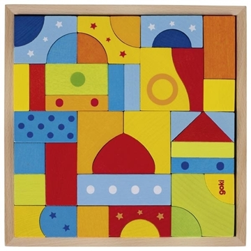 """Слика на Дрвени блокчиња во разни форми и бои """"Мозаик"""""""