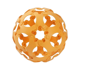 Слика на Binabo - сет за креативно играње - 36 парчиња - портокалов