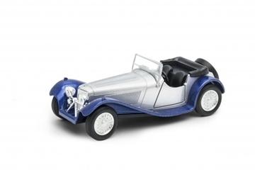 Слика на Jaguar SS 100 (silver/blue) Welly 1:34-39