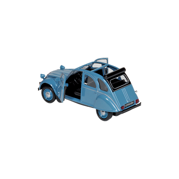 Слика на Citroen 2CV blue, open roof (1979), die-cast, 1:34-39, 11,7 cm