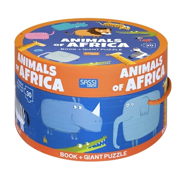 Слика на Animals of Africa - Book and Giant Puzzle