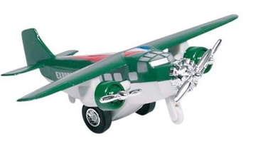 Слика на Airplane, die-cast, L= 14 cm (Green)