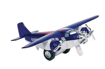 Слика на Airplane, die-cast, L= 14 cm (Blue)