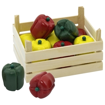 Слика на Peppers in vegetable crate