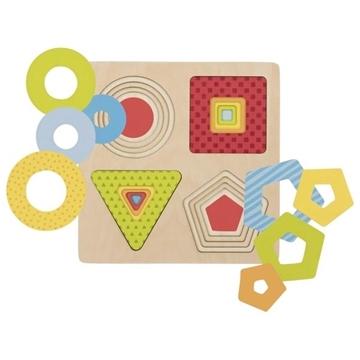 Слика на Goki - Повеќеслојна сложувалка со форми и бои