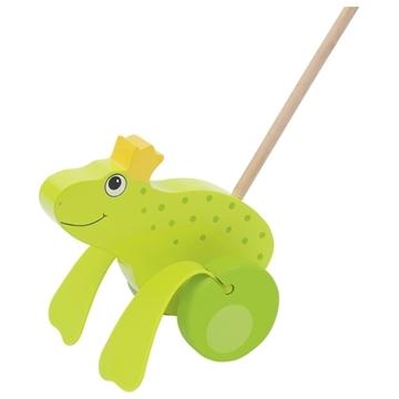 Слика на Играчка за туркање - Жаба крал