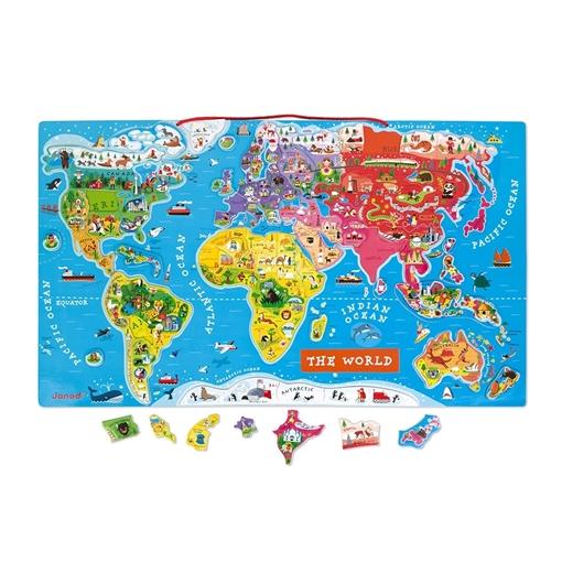 Слика на Магнетна сложувалка - Карта на светот