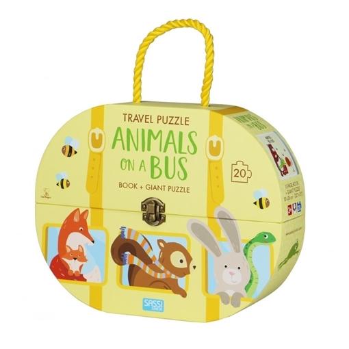 Слика на Animals on a Bus - Book + Giant Puzzle