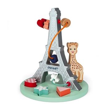 Слика на Жирафата Софи - Дрвена играчка со спирала