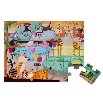 Слика на Сложувалка со текстури за допирање - Зоолошка градина - Janod