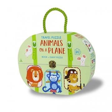 Слика на Animals on a Plane - Book + Giant Puzzle