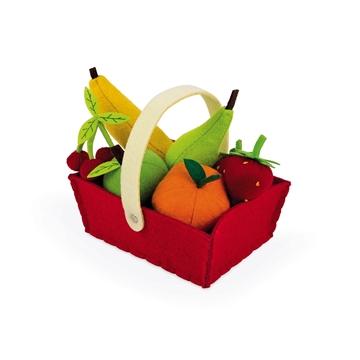 Слика на 8 Овошја и кошничка од филц - Janod
