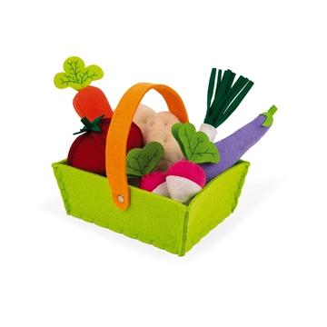 Слика на 8 зеленчуци и кошничка од филц - Janod