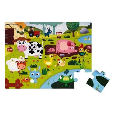 Слика на Сложувалка со текстури за допирање - Домашни животни - Janod