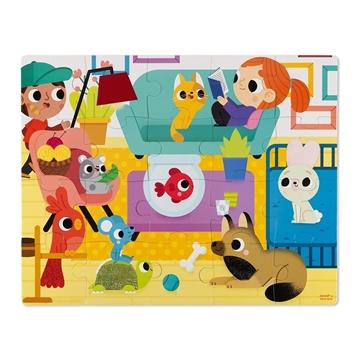 Слика на Сложувалка со текстури за допирање - Домашни миленици - Janod