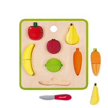 Слика на Табла со овошје и зеленчук што се сече - Janod