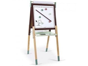 Слика на Двострана табла со прилагодлива висина бордо/зелена - Janod