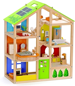 Слика на Куќичка за кукли со мебел - Hape Е3401