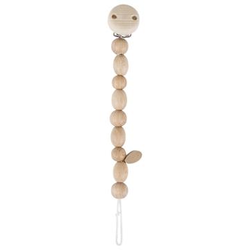 Слика на Приврзок за цуцла од природни дрвени топчиња - Heimess nature