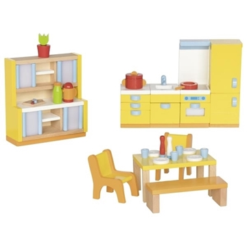 Слика на Мебел за куќичка за кукли - Кујна - Goki