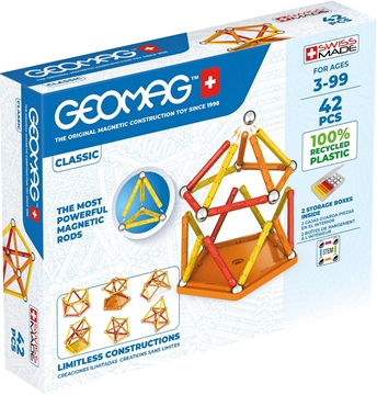 Слика на Магнетен конструктор Класик (42 парчиња) - Geomag