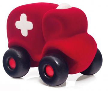 Слика на Амбулантно возило - Rubbabu (Црвено, 18,5 cm) Возрaст: 1 г+
