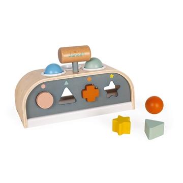 Слика на Играчка со чеканче и сортирач на форми - Sweet Cocoon - Janod