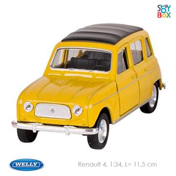 Слика на Renault 4, die-cast, 1:34, L= 11,5 cm (Yellow)