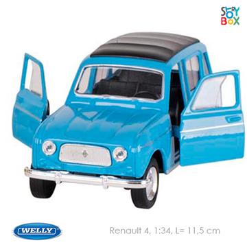 Слика на Renault 4, die-cast, 1:34, L= 11,5 cm (Blue)