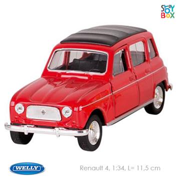 Слика на Renault 4, die-cast, 1:34, L= 11,5 cm (Red)