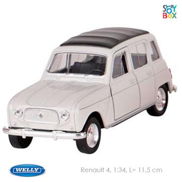 Слика на Renault 4, die-cast, 1:34, L= 11,5 cm (White)