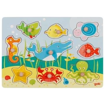Слика на Подводен свет - Сложувалка со дршки - Goki 57396